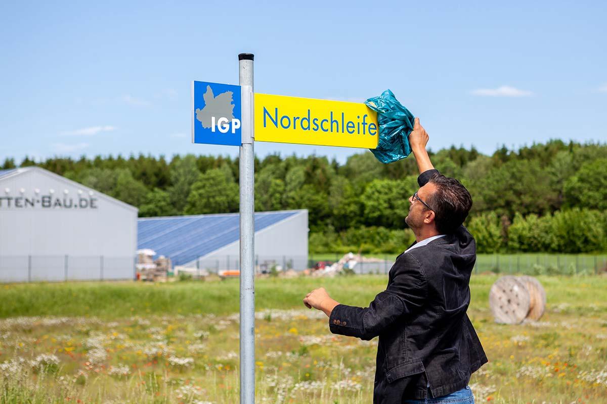 """Die Straße wird zukünftig die Bezeichnung """"Nordschleife"""" tragen."""