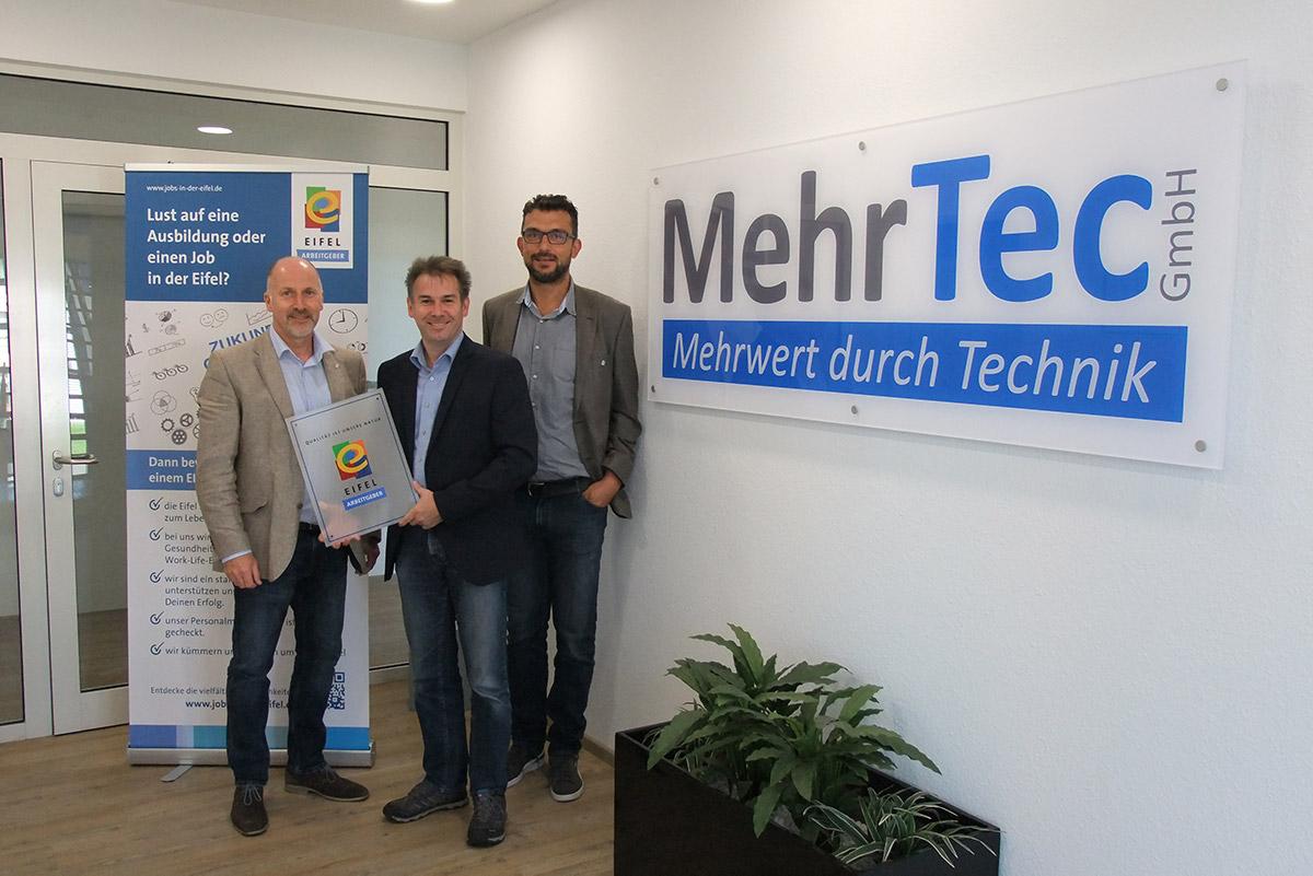 Pressefoto MehrTec - Foto (RME): Udo Adriany (Mitte), Stefan Mertes (rechts), Markus Pfeifer