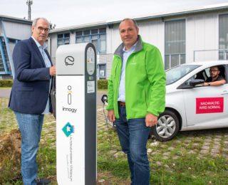 Neue Ladesäule für Elektroautos im Unternehmerpark Wiesbaum